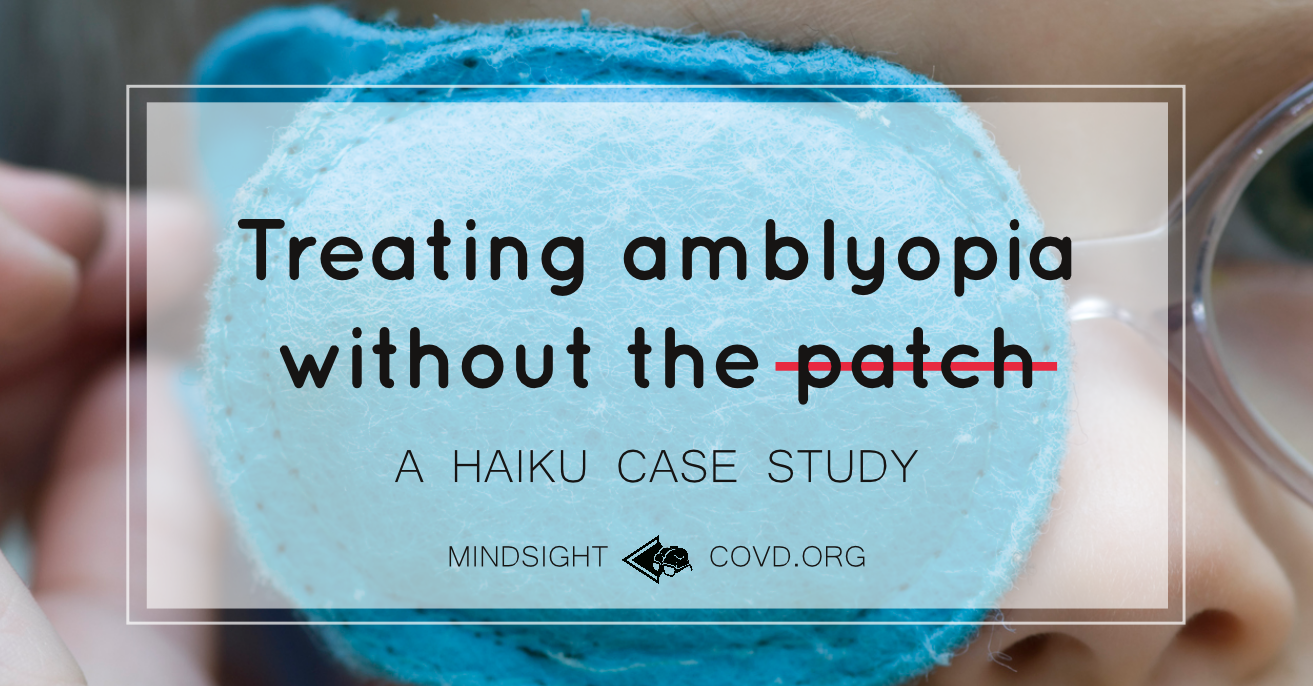 Treating amblyopia without the patch