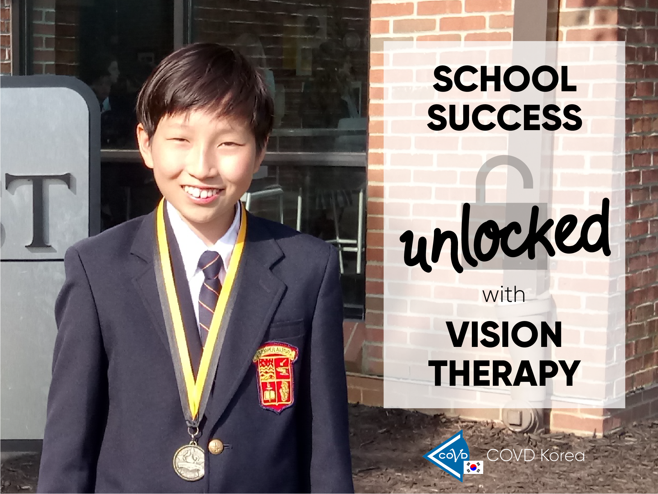 School success unlocked with vision therapy [COVD Korea Success Story]
