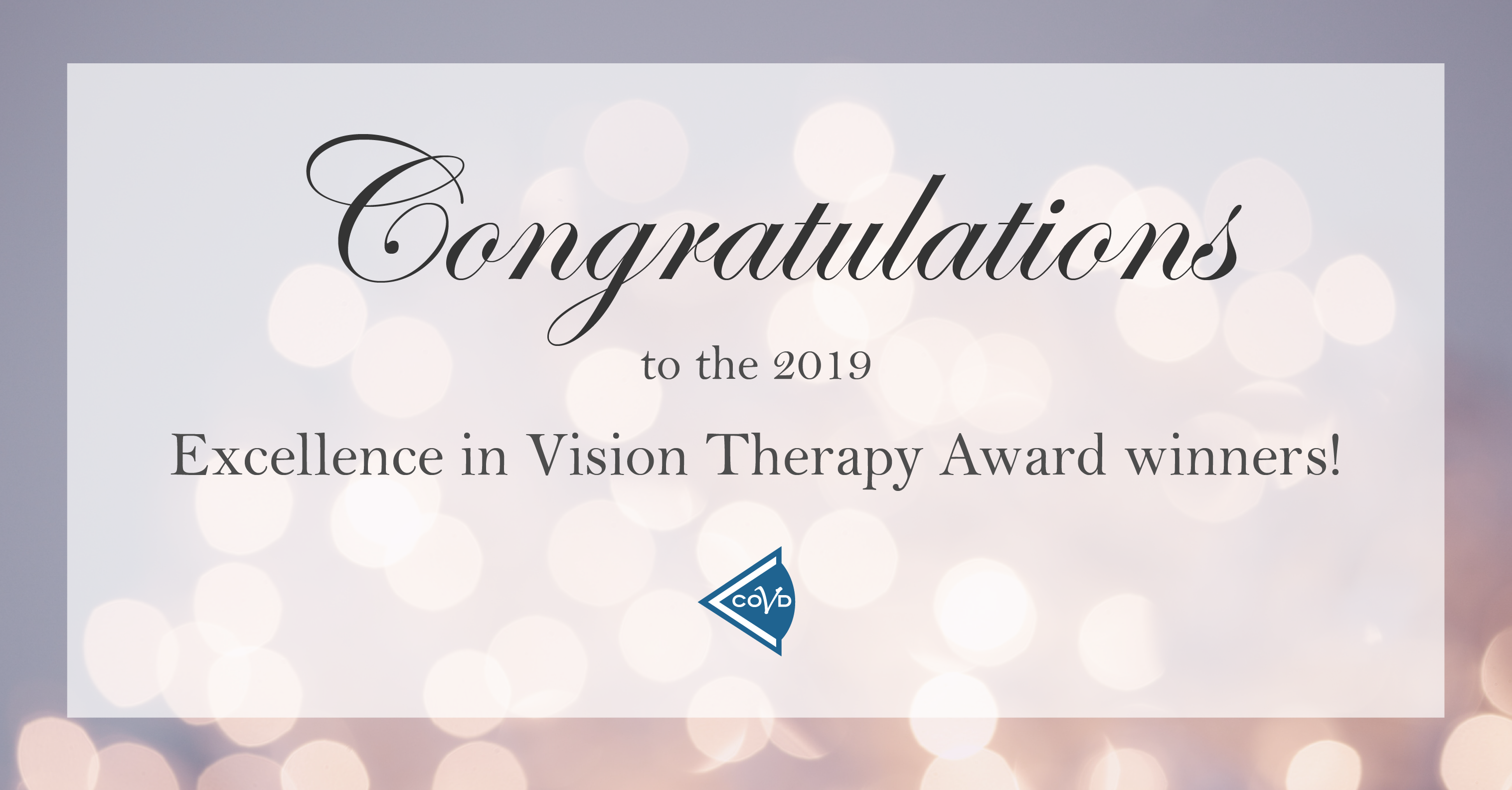 Celebrating Vision Therapy Excellence in this year's graduating optometrists